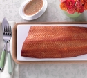 Image of Hot-Smoked, Bourbon-Cured Salmon with Caper Vinaigrette