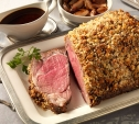 Image of Prime Rib with Blue Cheese Crust and Shallot Jus