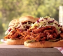 Image of Pulled Chicken Sandwiches with Apple Cider and Cabbage Slaw