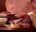 Image of Pineapple-Glazed Ham with Horseradish Sour Cream